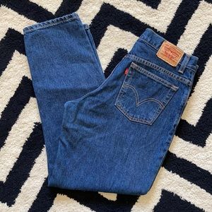 Classic Levi's 550 relaxed tapered high rise jeans